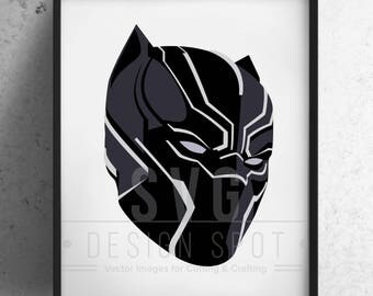 Black Panther SVG, Eps, Png - Super Hero SVG Files, Black Panther Vector Graphic, Black Panther SVG File, Cricut, Silhouette, Cameo