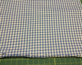 "Blue Gingham fabric 1/4"""