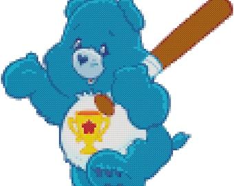Champ Bear Counted Cross Stitch Pattern PDF Download