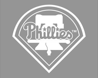 Philadelphia Phillies White Vinyl Decal