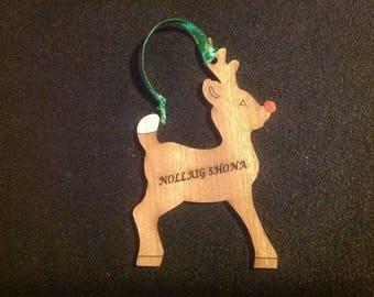Irish Christmas tree decoration, reindeer,