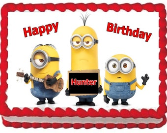 Minions Edible Cake Topper Birthday Decoration