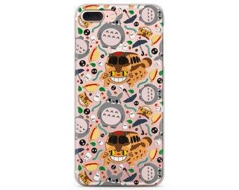 Studio Ghibli case iPhone case Totoro phone case iPhone x Catbus Anime art iPhones 7 plus cute iPhone 8 case kawaii clipart Ghibli Totoro