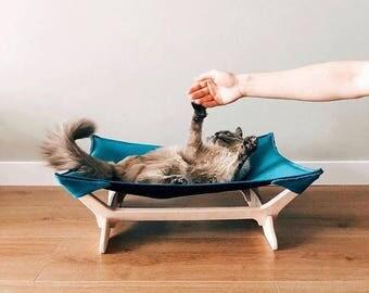 cat hammock   at hammock bed cat hammock turquoise pet hammock cat bed cat hammock bed for pet hammock striped cat bed hammock pet  rh   etsy