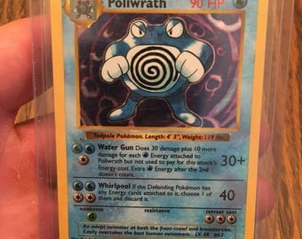 "Shadowless Pokémon card ""Poliwrath"""