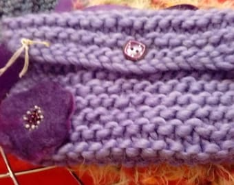 Hand Knitted purple bag