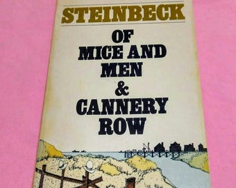 Steinbeck's double book: Of Mice and Men and Cannery Row. Vintage paperback, 1973. GUVC.
