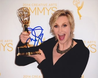 JANE LYNCH Signed Emmy's 8x10 Photo Autograph COA Glee Wreck-It Ralph