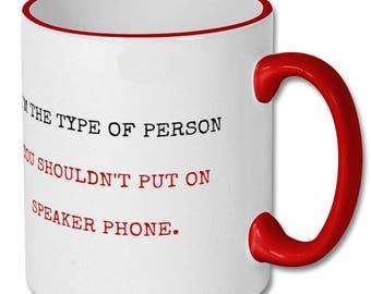 Vulgar person,profanity user,dirty language,talk dirty,rude person,rude mug,inappropriate,language,bestie mug,funny bestie gift,humour,jokes
