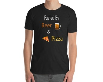 Pizza Shirt - Beer Shirt - Pizza and Beer - Pizza Lover - Funny TShirt - Pizza and Beer Shirt - Funny Beer Shirt