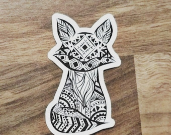 Tribal Fox Sticker