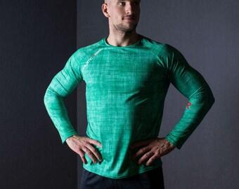 GREEN MOSAIC MAN longsleeve