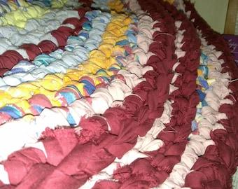 Rag rug brightly colored