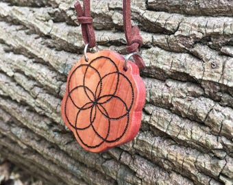 Seed of Life Pendant - Seed of Life Necklace, Sacred Geometry Pendant Necklace, Boho Pendant, Festival Jewelry