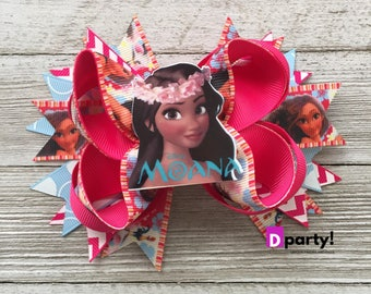 Moana Hair Bow, Moana Headband, Moana Hair Clip, Moana Hairbow,Moana Headpiece, Moana Birthday Outfit