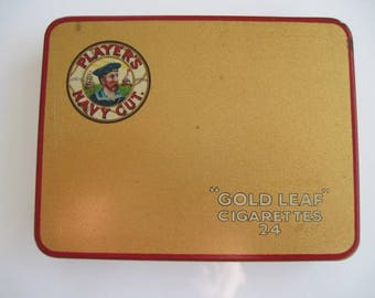 24 Players Gold Leaf cigarette tin
