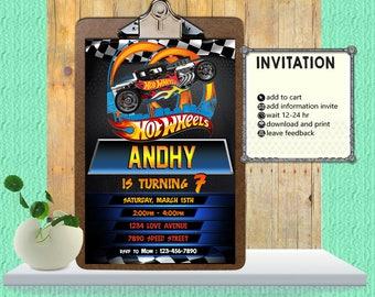 Hot Wheels Invitation,Hot Wheels Birthday,Hot Wheels Party,Hot Wheels Birthday Inviation,Hot Wheels Birthday Invitation-F0141