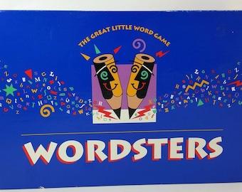 Wordsters Vintage 1991 Milton Bradley Complete Board Game