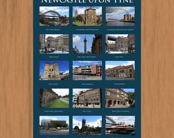 Newcastle upon Tyne. A3 Poster Print