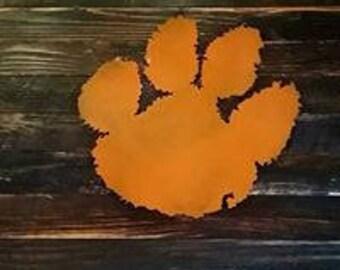 Clemson Tiger Paw  Sign