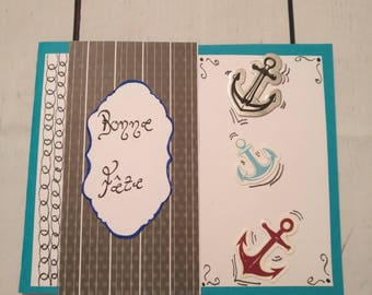 Greeting/birthday/pattern of sailor man card