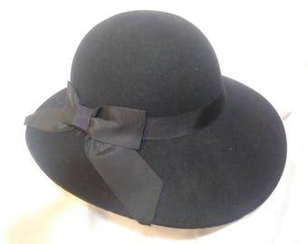 Vintage Doeskin Black Hat