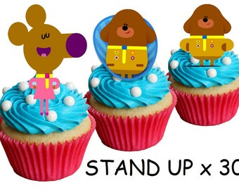 30 Hey Duggee STAND UP Edible cake Decorations Rice Paper Cake Decorations Edible Paper Cake Toppers Rice Paper Toppers