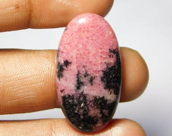 Top Quality Rhodonite gemstone Amazing loose gemstone natural cabochon handmade gemstone smooth polish 34.80cts,(34x18x4)mm.