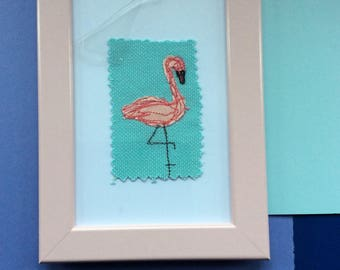 Flamingo in blue