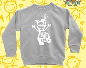 Olaf Crewneck for Kids/Cute Frozen Sweater for Girls and Boys/Disney Sweater for Kids/Frozen Crewneck for Kids/Snowman Crewneck for Kids