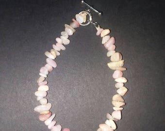 Pink opal bracelet.