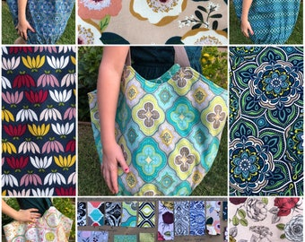 CUSTOM ORDER - Boho Reversible Bag Large - Choose 2 Patterns from 22 Available Fabrics - Beach Bag - Purse - Hobo Bag - Handmade 7-10 Days t
