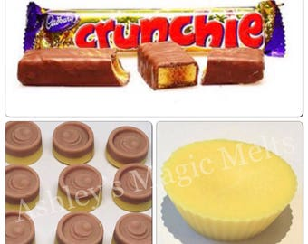 3 Crunchie chocolate wax melts, honeycomb wax, soy wax melts, bakery wax, sweet scented melts, scented gifts, cheap wax melts, strong wax