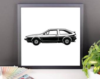 1985 Volkswagen Scirocco Framed Poster