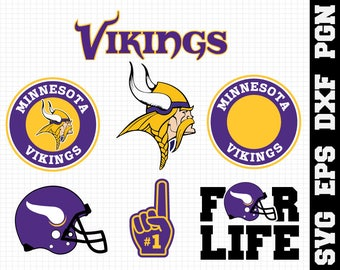 Minnesota Vikings Nfl,SVG File-png,dxf,eps,nfl svg,SVG File for Cameo,Cricut & other electronic cutters Silhouette Cut Files,Cricut Cut File