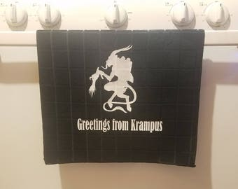 Greetings from Krampus Kitchen Towel