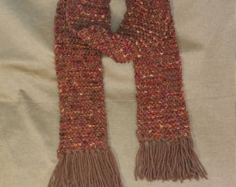 Autumn ribbon fringed scarf