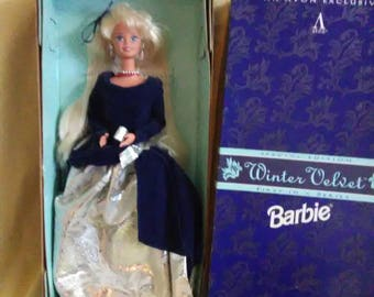 Vintage 1995 Mattel Barbie. Winter Velvet an Avon Exclusive.
