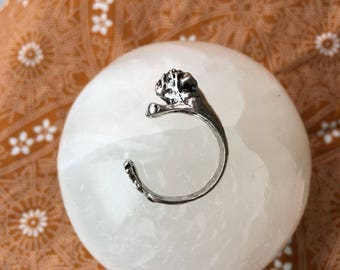 Doggie Ring • Vintage • Silver • Dogs • Animals • Cute • Funny • Unique • Adorable •