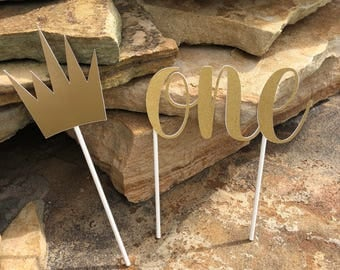Wild One Cake Topper, Wild One Cupcake Toppers, Wild One Birthday Decorations