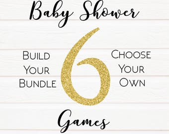 6 Pack Build Your Own Baby Shower Games, Baby Games Baby Shower Game, Porn Or Labor, Baby Shower Games, Baby Shower, Labour Or Lovin Games
