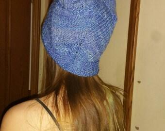Blue handspun hat