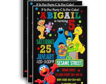 Sesame Street Invitation,Sesame Street Birthday,Sesame Street Birthday Invitation,Sesame Street party,Sesame Street Birthday Printable