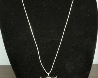 Silver Cow Skull Necklace
