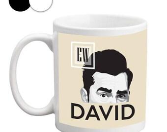 David Mug, Ew David Mug, Mug With Saying, Perfect Gift, Mugs For Men, Mugs Pottery, Mugs For Mom, Coffe Mugs, 11oz/15oz, Black/white