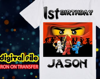 Ninjago Iron On Transfer Birthday Shirt, Ninjago Iron On Transfer, Ninjago Birthday Boy Iron On Transfer, Ninjago Personalize