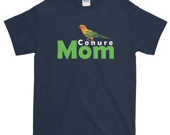 Conure Mom Short-Sleeve T-Shirt - Conure T-Shirt for Women - Mom Conure Shirt - Conure Lover Tee