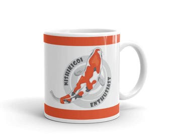 Koi Fish Pond Lover Mug - Koi Owner Mug - Nishikigoi Enthusiast - Coffee Drink Mug