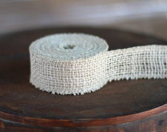 30 FT.  Ivory Burlap Ribbon Fabric Gift Packaging Christmas Garland Jute Ribbons Natural Outdoor Rustic Shabby Chic Wholesale Ribbons Sale