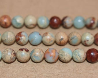 15 inches Full strand,Impression Jasper smooth round beads 6mm 8mm 10mm ,loose beads,semi-precious stone